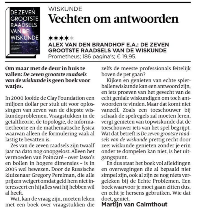 De Volkskrant, 15 september 2012